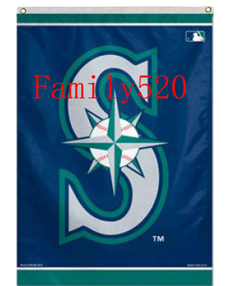 Foreign trade Seattle sailor version baseball flag MLB Seattle Mariners USA Flag A15