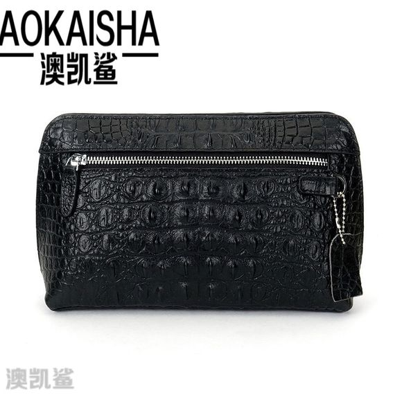 Crocodile pattern new card sets New fashion men's bag casual clutch bag wallet 6906 bag new package