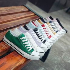 Spring canvas shoes female Harajuku ulzzang Korean plate shoes single shoes female students white shoes women 2019 tide shoes