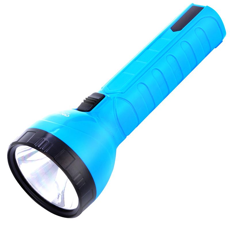 得力3664LED充电式手电筒强光迷你户外两档可调多功能照明