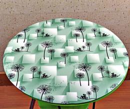 1.2米不透明防水防油防烫防滑免洗圆桌布家用PVC塑料餐桌垫