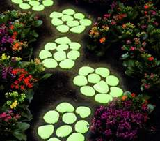 Glowing stone luminous stone will glow cobblestone garden decoration special large cobblestone fluorescent artificial stone