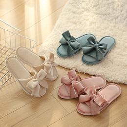 日本FaSoLa棉拖鞋女士中厚底春季家居拖鞋春天居家室内毛绒拖鞋