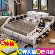 tatami bed leather simple and modern 18 m bed master bedroom wedding bed double bed