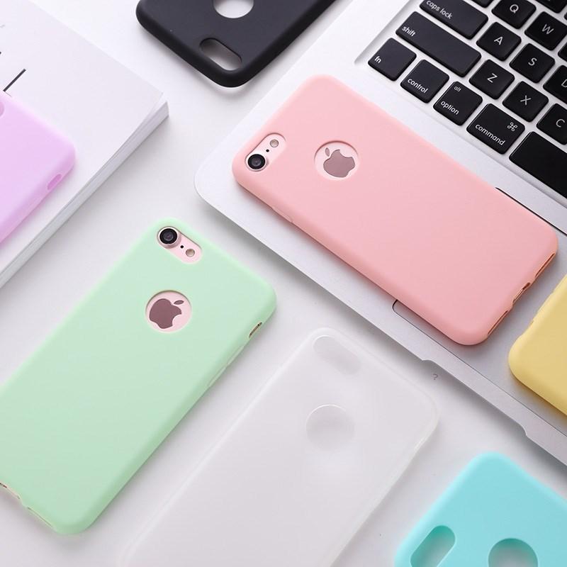 标图iPhone6s手机壳苹果6plus硅胶6磨砂超薄简约防摔软套小清新女