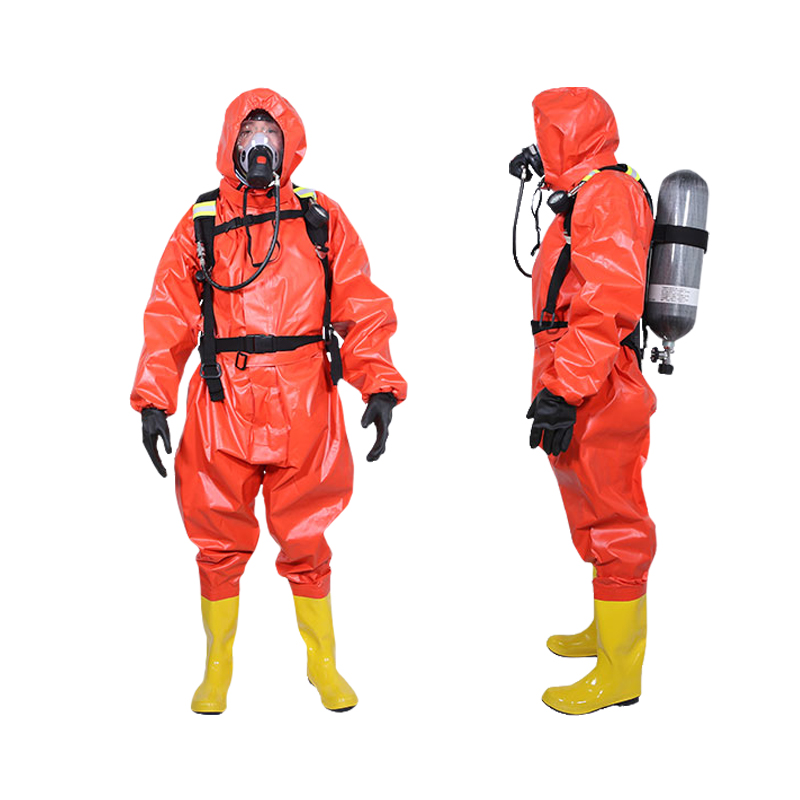 连体消防防化服 生化氨气液氨轻型防化护服防毒衣服 简易防化服