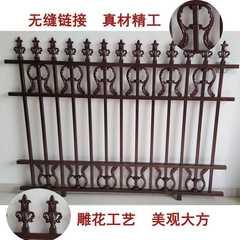 铝艺护栏欧式铝合金乡村庭院别墅围栏院墙大门平开门阳台花园栅栏