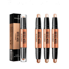 Highlight repair capacity double-head dual-use v face pink nose shadow concealer beginner men and women face-faced lying silkworm pen
