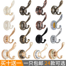 European coat hook clothes coat hook single hook single hook wall hanging wall shoe cabinet wardrobe hook free punch