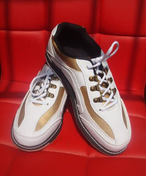 BEL bowling supplies Professional bowling shoes Men and women models Imported soft fiber super comfortable white gold models