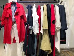 风衣女中长款学生学院风2019流行矮个子韩版格子品牌春秋牛仔外套