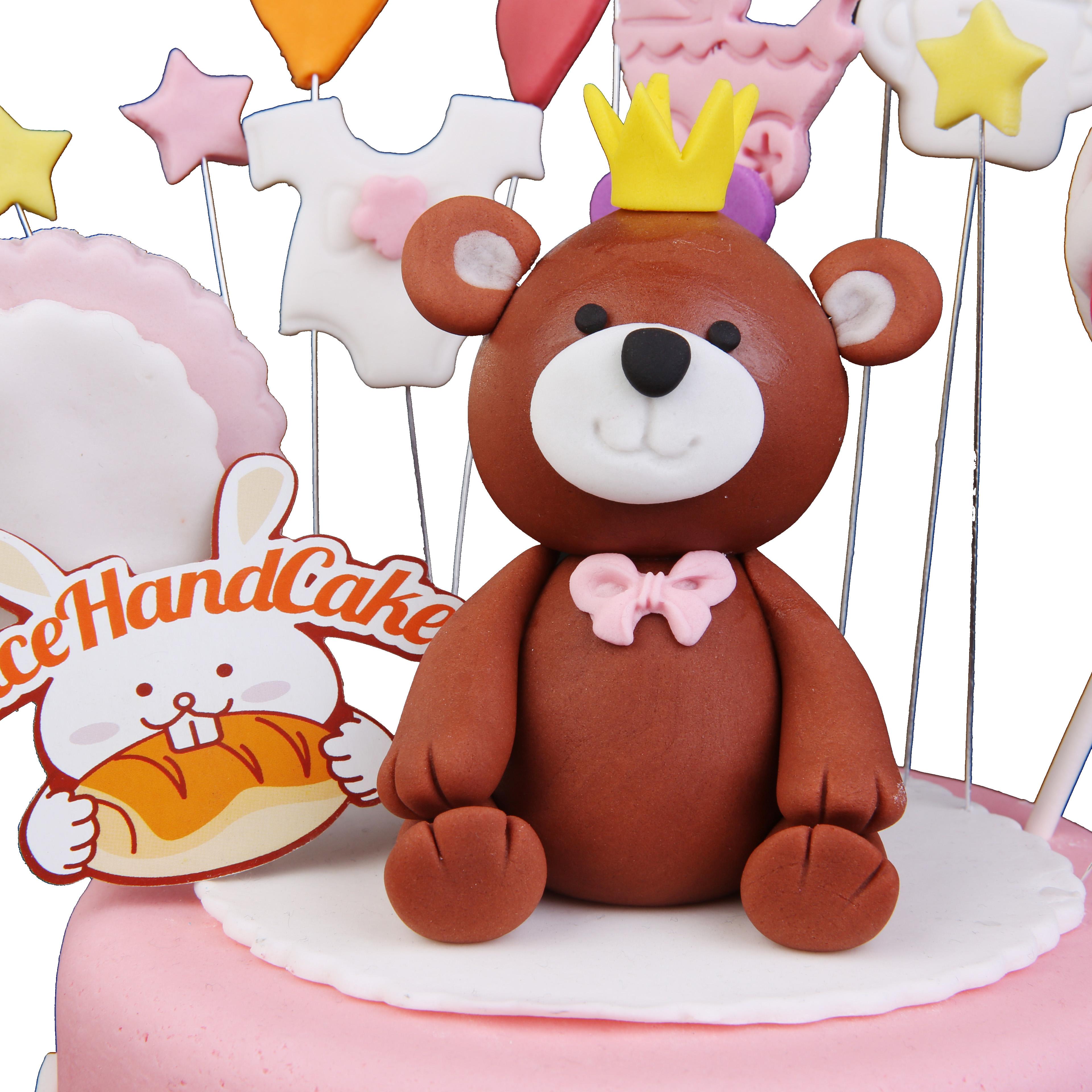 男孩满月酒邀����K_鸡宝宝一周岁生日蛋糕男孩创意女孩公主双层满月酒三层北京同城