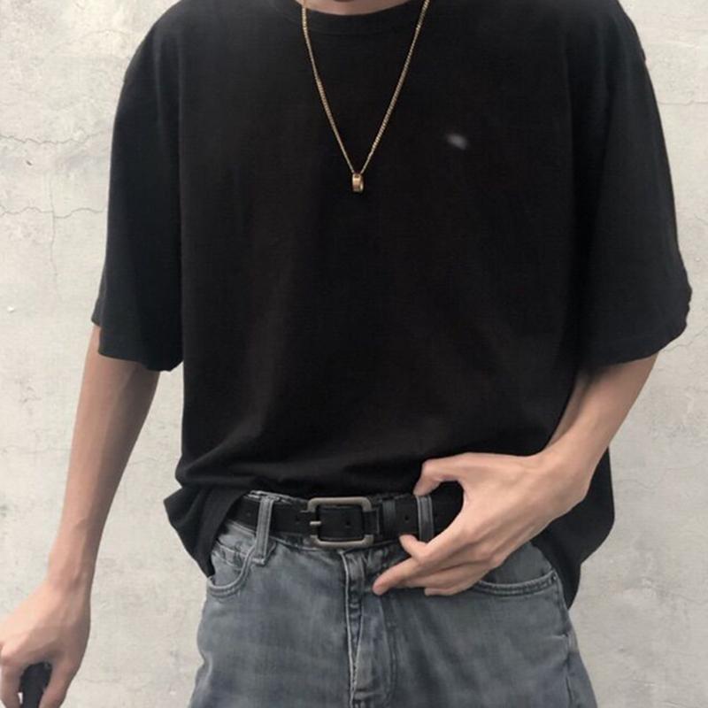 ins港风酷皮带男潮流年轻人学生韩版百搭简约裤腰带女韩国个性黑