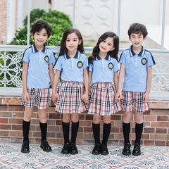 儿童校服5-7-8-9小学生套头夏季校服学院幼儿园六一演出服团购