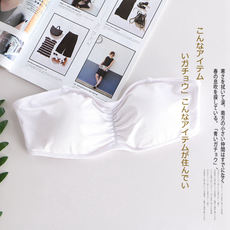 Strapless underwear, female sense, no steel ring, wedding, non-slip tube top, small chest, gathered, breathable, invisible bra