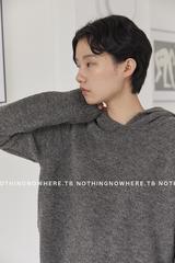 NOTHINGNOWHERE 18秋冬 厚款圈圈羊毛戴帽毛衣 红/蓝/灰