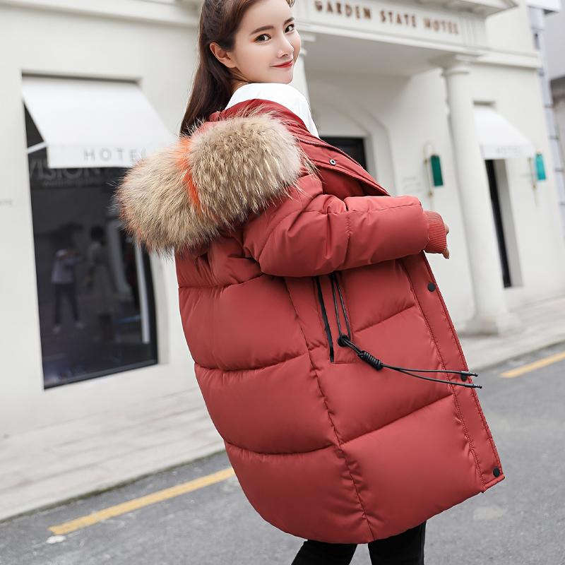 反季特价棉衣女中长款韩版宽松加厚大码棉服学生冬棉袄外套面包服