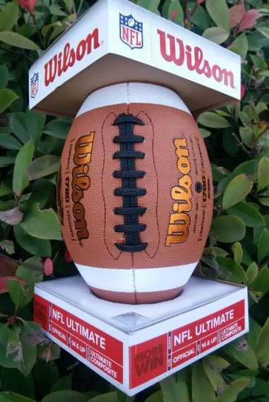 Authentic Wilsonville wins NFL9 American football football training ball for the holiday