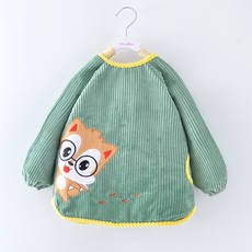 Baby smock autumn and winter long-sleeved waterproof anti-smudge apron children anti-dressing boys and girls eating clothes infant bib