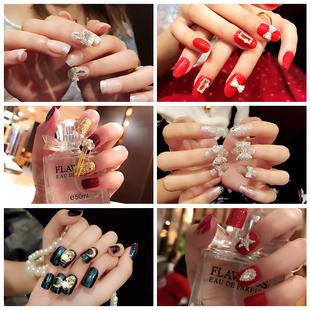雨奈 新娘指尖魔盒可穿戴甲美甲指甲贴片成品可拆卸全贴假指甲片