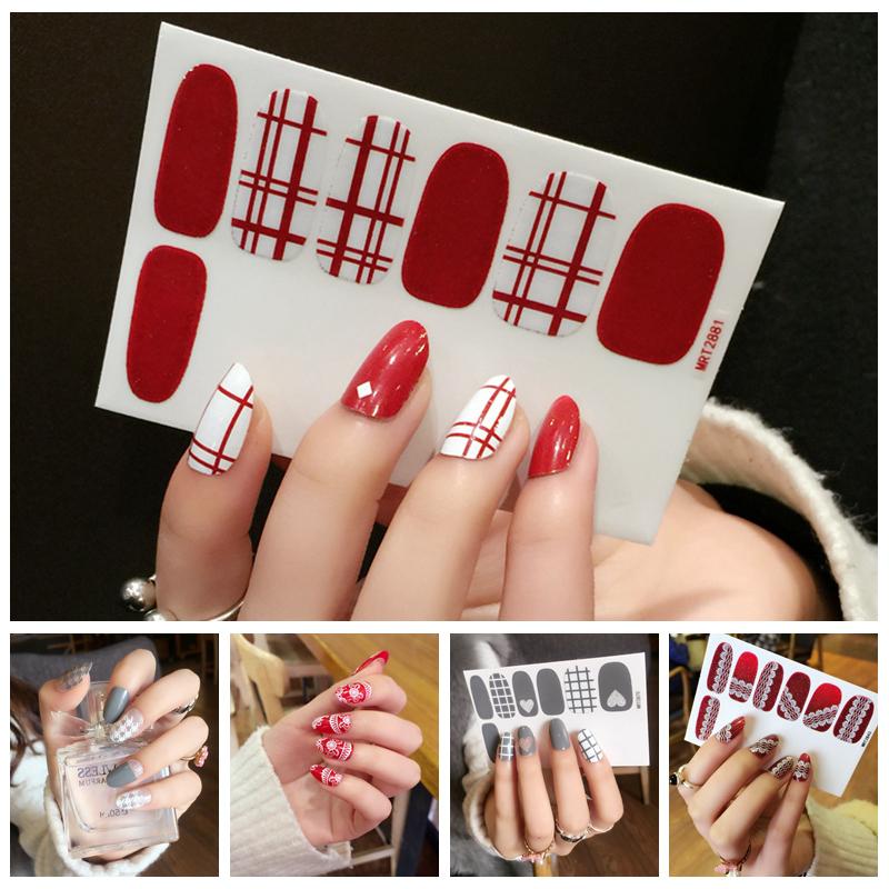 健康指甲贴纸 全贴3d美甲贴纸防水美甲饰品环保指甲贴片4张包邮