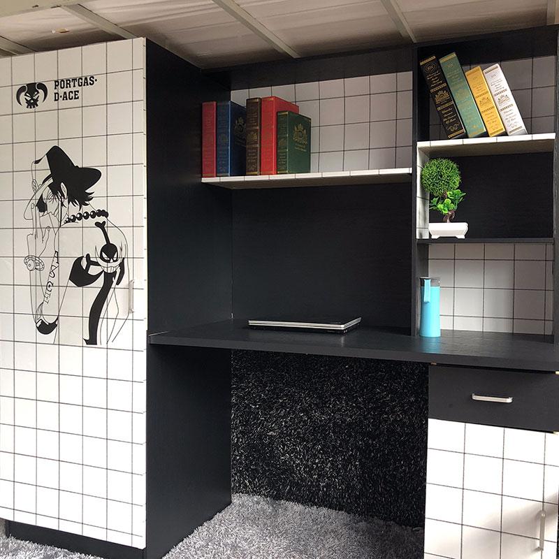 海贼王日式网红装饰壁纸宿舍大学生墙纸寝室ins北欧风格简约十米