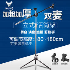 Capacitance Microphone Microphone Stand Floorstanding Professional Microphone Metal Tripod Stage Stage Vertical wheat stand