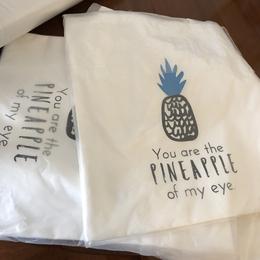 蓝色菠萝韩式韩风ins风简洁森系单肩帆布包袋棉麻布包chic购物袋
