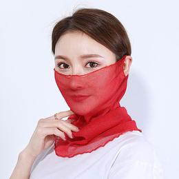 民族风纯色围脖女韩版新款百搭百变挂耳式脖套广场舞多用小丝巾