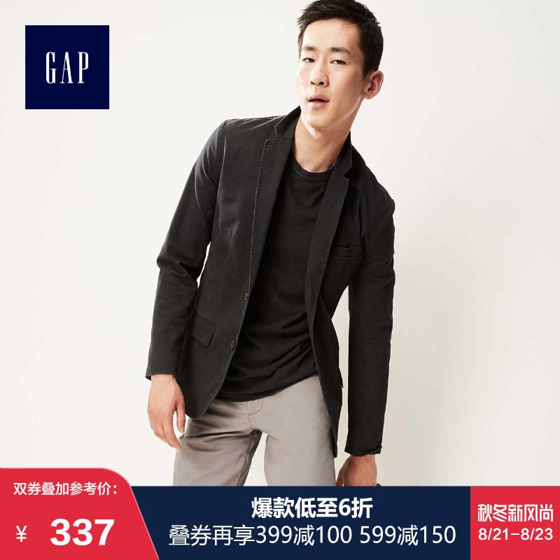 Gap男装纯色商务西装外套356216 W 时尚平驳领上衣男士西服职业装