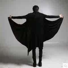 秋季非主流大衣刺客信条开衫暗黑系宽松长款斗篷男装风衣外套披风