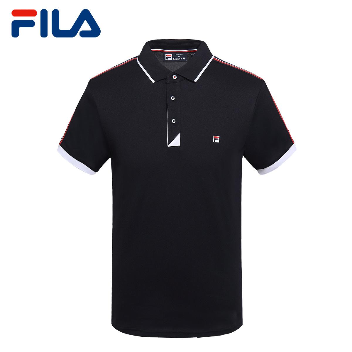 FILA斐乐男T恤2018夏季新款短袖POLO衫休闲时尚运动T恤男