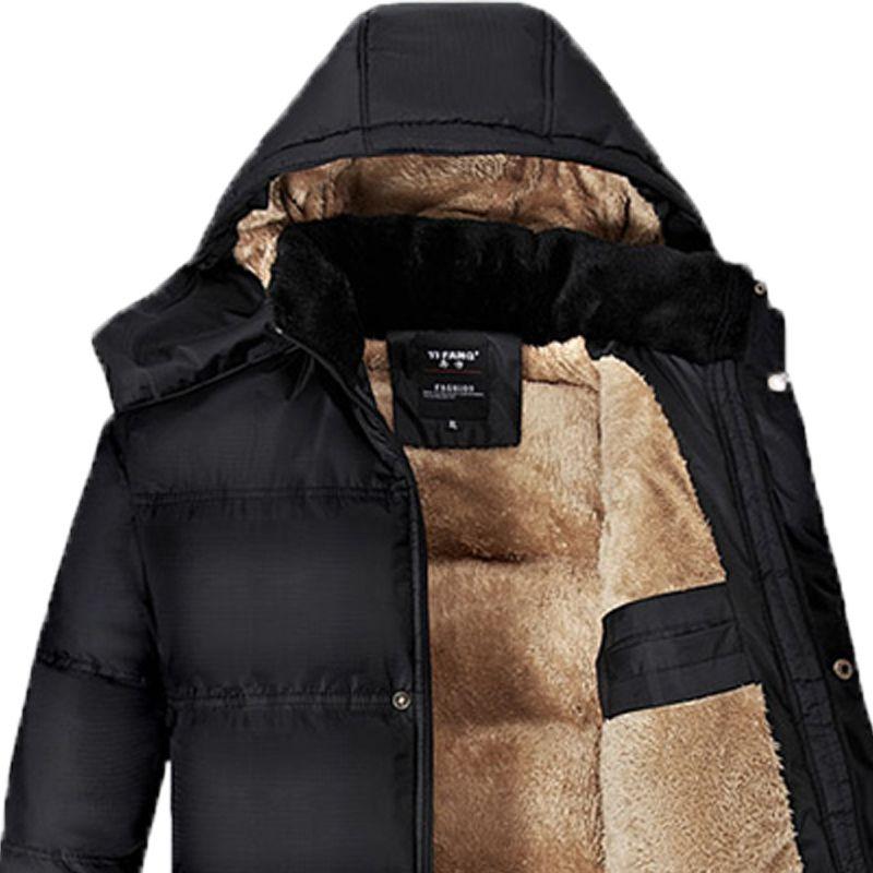 男装高档肥佬胖子冬季棉衣中年195码200斤棉袄中老年领导爸爸外套