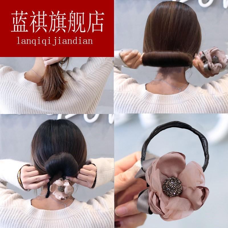 丸子头盘发器造型器懒人百变蓬松编发工具布艺花苞头盘头发饰