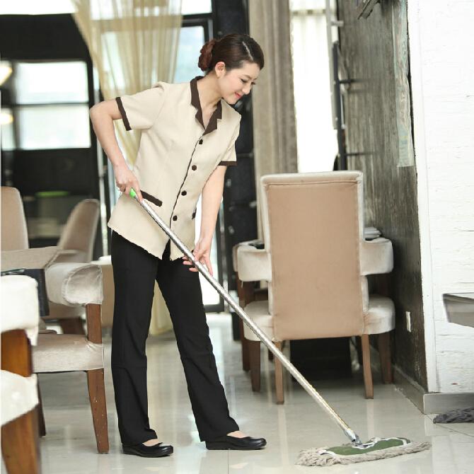 酒店保洁工作服短袖物业保洁女工作服夏装宾馆客房餐厅清洁工服装