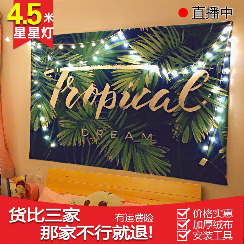 背景布ins挂布挂毯壁挂北欧风格简约植物主播拍照卧室布私人订制
