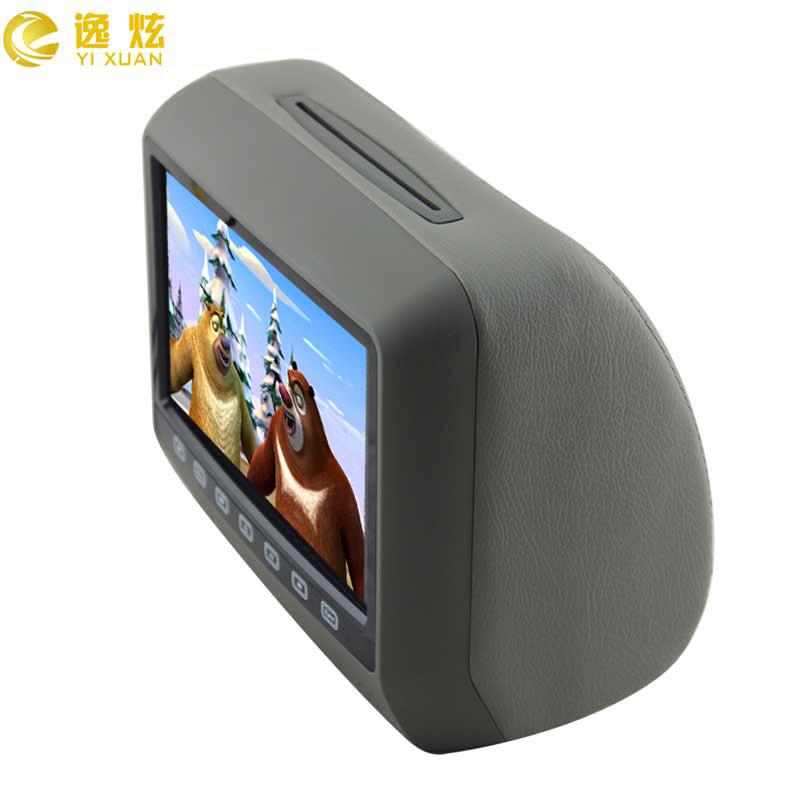 车载头枕包显示器DVD 9寸高清后排显示屏MP5触摸按键IR升级画面