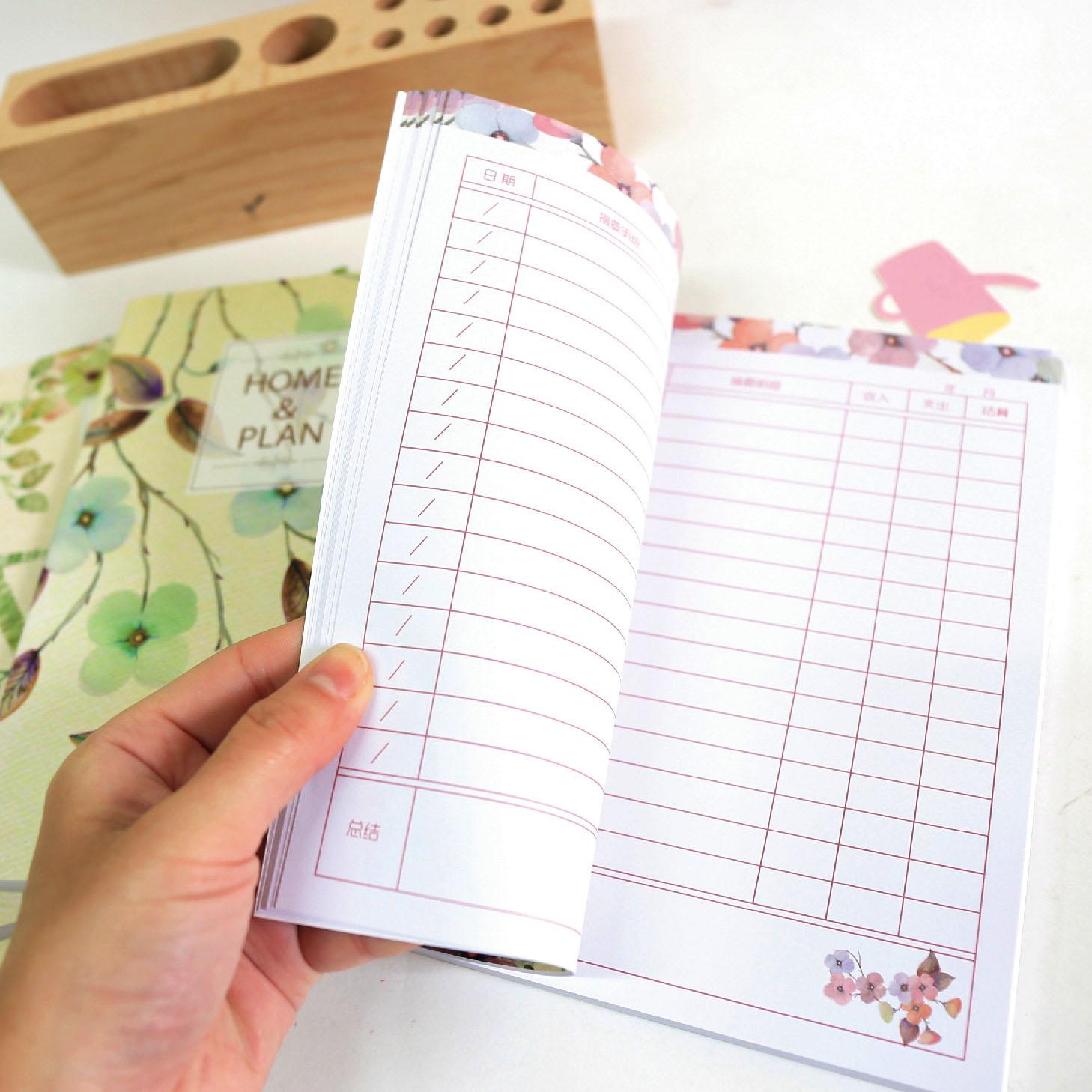 日韩国学生创意记账本小账本迷你可爱理财本懒人财务手账本子批发图片