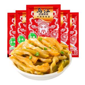 乌江涪陵榨菜鲜脆菜丝80g*5袋下饭菜咸菜酱菜学生榨菜小包装早餐