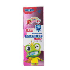 Frog Prince Children's Toothpaste 3-6-12 Anti-Stomatology Change Baby Strawberry taste F-Free Swallowing Toothpaste