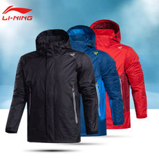 Li Ning coat male 2018 new spring models buy thin hooded coat windproof breathable shirt sports windbreaker