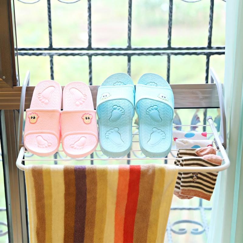 窗台折叠晾衣架窗外窗户外凉衣架晒架阳台暖气片挂衣架晒鞋架子