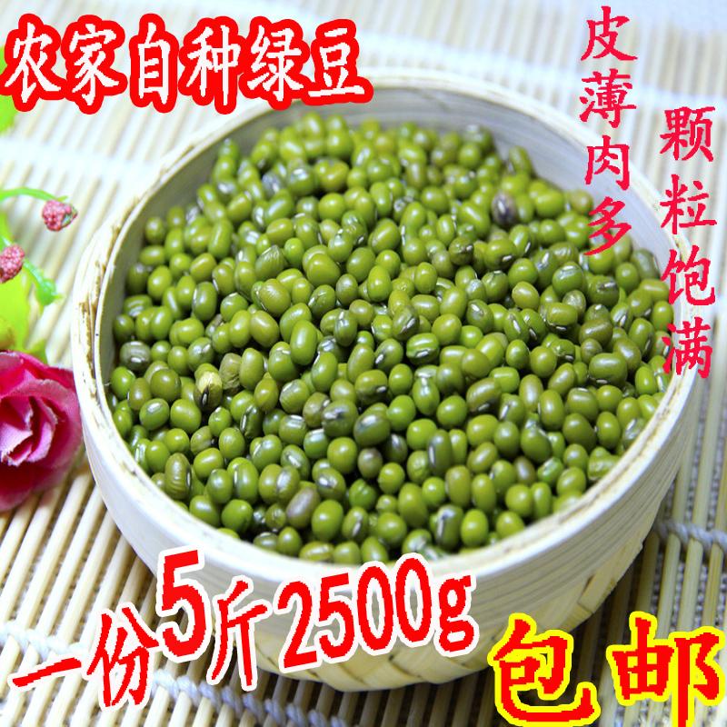 5斤2500g新鲜绿豆农家自产东北绿豆芽豆笨绿豆发豆芽煮汤散装包邮