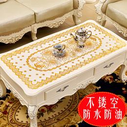 烫金桌布PVC防烫免洗茶几垫餐现代简约桌台布长方形镂空盘垫欧式