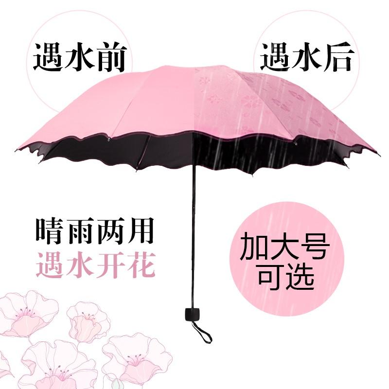 休闲图案隔热黑胶结实超大方便雨伞定制女式防晒防紫外线太阳伞