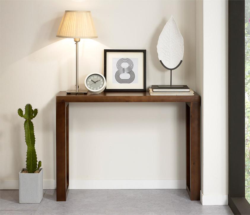 供桌简约现代实木条案墙角桌玄关桌客厅隔断长条几复古端景台定制