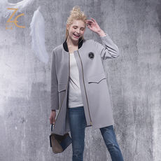 Zhichen 2017 spring new casual long coat 1871082
