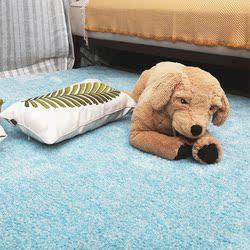 地毯客厅卧室门垫北欧家用飘窗方形茶几榻榻米床边纯色地毯爬行垫