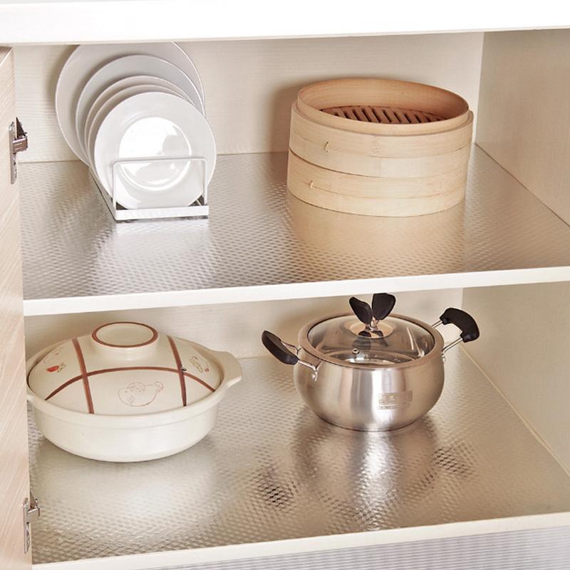 厨房加厚防水防潮防油铝箔橱柜防霉贴抽屉垫鞋柜垫反面带胶可自粘