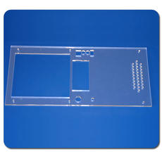 Supply Shanghai plexiglass / acrylic 3mm lens drilling machine silk screen instrument export panel